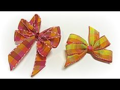 Video on how to make easy hair bows! Camping Crafts, Fun Crafts, Crafts For Kids, Arts And Crafts, Diy Ribbon, Ribbon Bows, Ribbons, Easy Hair Bows, Bow Tutorial