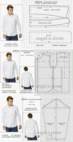 men's shirt pattern with sleeve variations free pattern diagramRead more about mens shirts♥ Deniz ♥Tap the link to check out great cat products we have for your little feline friPattern Making Fundamentals: Dart manipulation and pivot points (VIDEO)Ch Mens Sewing Patterns, Sewing Men, Sewing Clothes, Clothing Patterns, Diy Clothes, Dress Patterns, Shirt Sewing Patterns, Pattern Sewing, Free Pattern