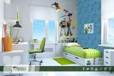 Tus hijos son fan de las películas de Toy Story entonces seguro que una decoración como esta les encantaría para su recámara.