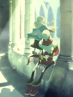 watercolour sans and papy, v nice