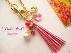 Pink×Pink ★バッグチャーム|バッグチャーム|ハンドメイド通販・販売のCreema