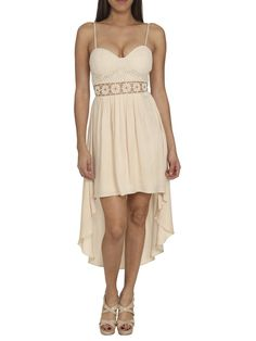 Arden B. Women's Eyelet Lace High-low Dress