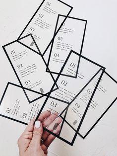 Clear Modern Wedding Menu Design - Black and White. - Clear Modern Wedding Menu Design – Black and White… – Wedding Invitation Wording, Wedding Stationary, Invitation Design, Invitation Cards, Party Invitations, Invitation Ideas, Invites Wedding, Wedding Branding, Wedding Tables