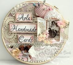 Tutorial Shabby Chic Altered embroidery hoops