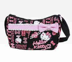 Hello Kitty Shoulder Bag: Black Ribbon