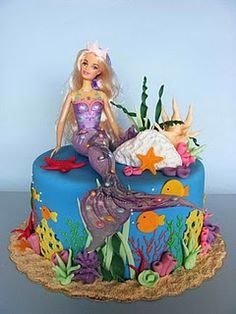 I'm going to start decorating all my cakes with Barbie dolls.