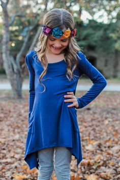 Kids Navy Pocket Detail Top – UOIOnline.com: Women's Clothing Boutique