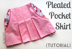 pleated pocket skirt tutorial