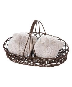 Look at this Dolomite Bird Salt & Pepper Shakers in Basket on #zulily today!