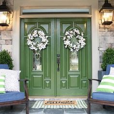 If your cute #porch welcome mat just won't cut it anymore, do more with your front #door using these #tips.