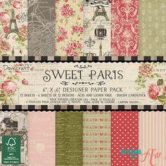 Shop for Dovecraft Sweet Paris Collection - Paper Pack 6 Designs, Fsc). Packs Papier, Paris Vintage, Parchment Craft, Paper Craft Supplies, Scrapbook Paper Crafts, Hobbies And Crafts, Cardmaking, Card Stock, Free