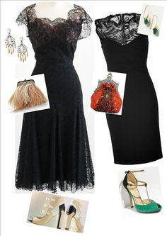 Accessorise black dress pinterest