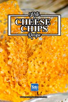 "Keto Cheese Chips Recipe (Crisps) – A Super ""Easy"" Low Carb Snack to Make. These low carb, gluten free chips are a great easy snack recipe for kids and adults! Cheese chips are ready to eat in under 15 minutes! Keto Cheese Chips, Cheese Snacks, Cheese Crisps, Keto Crisps, Snacks To Make, Easy Snacks, Keto Snacks, Snack Recipes, Whole30 Recipes"