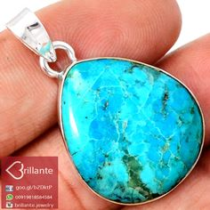 925 Sterling Silver Natural Arizona Turquoise Pendant BJP8218AT
