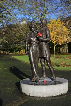life size standing sculpture depicting the romantic story of the rose of tralee, town park, county kerry ireland Love Ireland, Ireland Travel, The Rose Of Tralee, Irish Images, Erin Go Bragh, Irish Blessing, Irish Celtic, Emerald Isle, British Isles