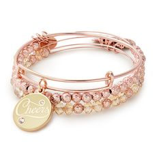 Champagne Cheers Set of 3 Alex and Ani Alex And Ani Bracelets, Bangle Bracelets, Bangles, Jewelry Trends, Jewelry Sets, Jewelry Making, Dior, Best Gifts For Mom, Chanel