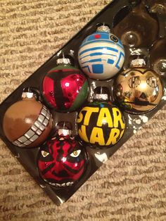 Star Wars Characters Set of 6 Ornaments by KaleyCrafts on Etsy