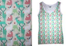 Trägertops - Unterhemd Hirsch - ein Designerstück von JAQUEEN-handmade-streetwear-berlin bei DaWanda