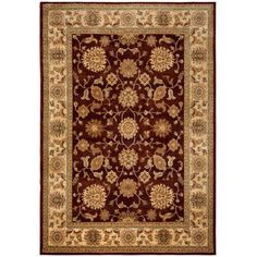 Rizzy Home Bellevue Double Pointed Area Rug 9 Ft. 2 In. X 12 Ft. 6 In. Burgundy Model BLVBV371300709216, Beige