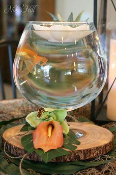 Luau Fish Bowl, Floating Candles Nob Hill Design