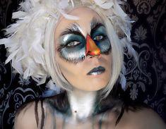 Bird makeup #theatricalmakeup