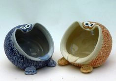 Pinch pot idea...UGIES thay live in kitchens and they like salt, tea bags, steel woll pads and kitchen sponges etc.