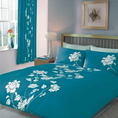 Chantilly floral print bedding in teal and white. http://www.worldstores.co.uk/p/Gaveno_Cavailia_Chantilly_Bedding_Set_in_Teal.htm