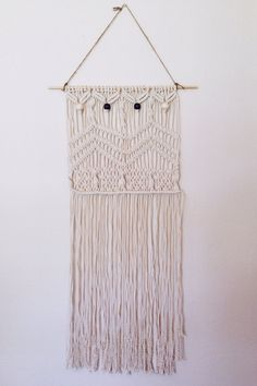 Beaded macrame wall hanging by leialala on Etsy, $80.00