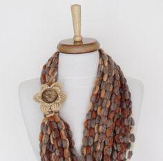 Infinity Loop Circular Crochet Scarf Women by knittingshop on Etsy