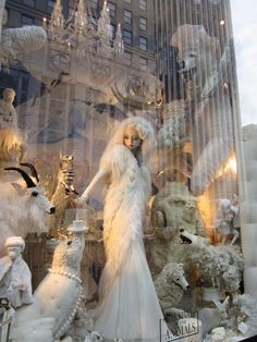 Bergdorf Goodman animal friends window Christmas / Holiday  Visual Merchandising & Window display