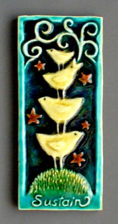 lisa muller. I love collecting her tiles. they are better in person!