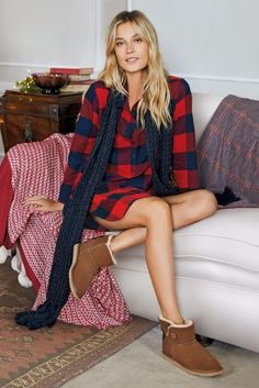 Buy Red Button Through Check Nightshirt online today at Next: Latvia