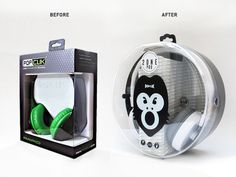 Popclik headphones get a brand new look, with the help of #plastic #packaging.