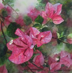 Karen Sioson Watercolors: bougainvillea