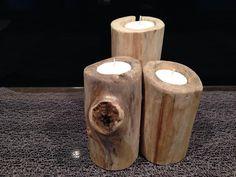 (2) Les Bois de Flo Decoration, Tea Lights, Candle Holders, Candles, Coffee, Wood, Table, Design, Drift Wood