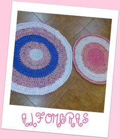 crocheted RUGS with T-shirt yarn