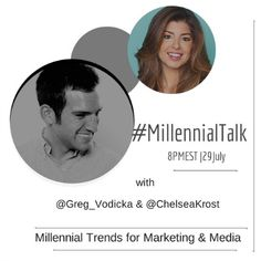 Top Millennial Trends for Marketing and Media on #MillennialTalk - Chelsea Krost http://chelseakrost.com/twitter_party/top-millennial-trends-for-marketing-and-media-on-millennialtalk/