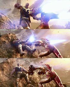 Strongest armor ever 🔥🔥💥 Damn he could kick the great titan 👌 Rate the bleeding edge armor/ 10? #avengers #infinitywar…