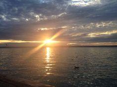 Sunset #Balaton Siófok Bali, Celestial, Sunset, Water, Outdoor, Sunsets, Gripe Water, Outdoors, Outdoor Living