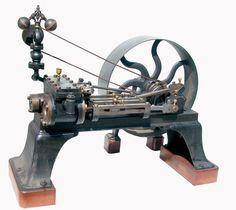 1885 HORIZONTAL COMPOUND 6-8 HP STEAM ENGINE