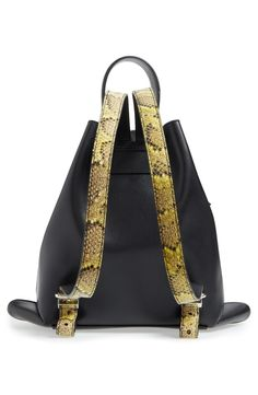 Free shipping and returns on KENZO Rizo Badge Leather Backpack at Nordstrom.com. Hand-applied badges add of-the-moment color and verve to a leather backpack with bold, oversized hardware and python-embossed detailing. Featuring a design based on traditional Japanese rice bags, this versatile pack stands on its own and offers a variety of carrying options.