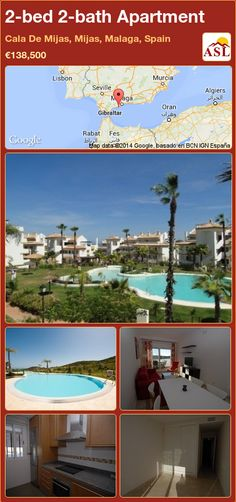 2-bed 2-bath Apartment in Cala De Mijas, Mijas, Malaga, Spain ►€138,500 #PropertyForSaleInSpain