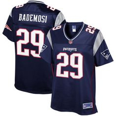91586f73be Johnson Bademosi New England Patriots NFL Pro Line Women s Team Color  Player Jersey – Navy New