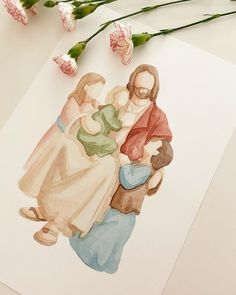 """LDS Paintings and Portraits's Instagram photo: """"""""Fear not, little children, for you are mine, and I have overcome the world, and you are of them that my Father hath given me; And none of…"""" Jesus Christ Painting, Overcome The World, Lds Primary, Little Children, Digital Prints, Give It To Me, Father, Portraits, Paintings"""