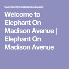 Welcome to Elephant On Madison Avenue | Elephant On Madison Avenue