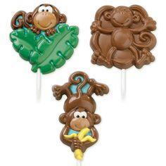 Wilton Large Monkey Birthday Lollipop Lollypop Candy Mold Mould