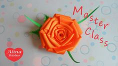 Роза из Репсовых Лент . Мастер класс / How to Make : Rose from rep Lent