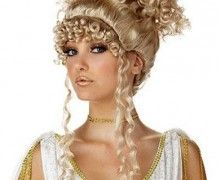 California Costumes Women's Athenian Goddess Wig,Multi,One Size: An Olympian Beauty! Accessorize your Favorite Greek or Roman attire with this Gorgeous Athenian Goddess Wig- Truly Regal! Search for Brunette Goddess Makeup, Greek Goddess Costume, California Costumes, Wig Party, Gorgeous Blonde, Costume Wigs, Cosplay Wigs, Blonde Wig, Blonde Women
