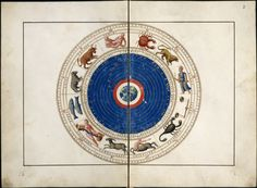 Atlas of Battista Agnese - 1544 Celestial Map, Compass Rose, Medieval Manuscript, Sacred Geometry, Constellations, Archaeology, Vintage World Maps, My Arts, Numerology