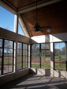 breeze windows with black framing., Eze breeze windows with black framing., Eze breeze windows with black framing. Eze Breeze Windows, Sunroom Windows, Front Door Porch, Screened In Porch, Three Season Porch, Modern Front Yard, Traditional Porch, Patio Enclosures, Country Style House Plans